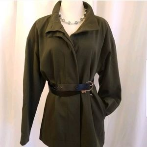 Suit jacket blazer olive long German BERRI